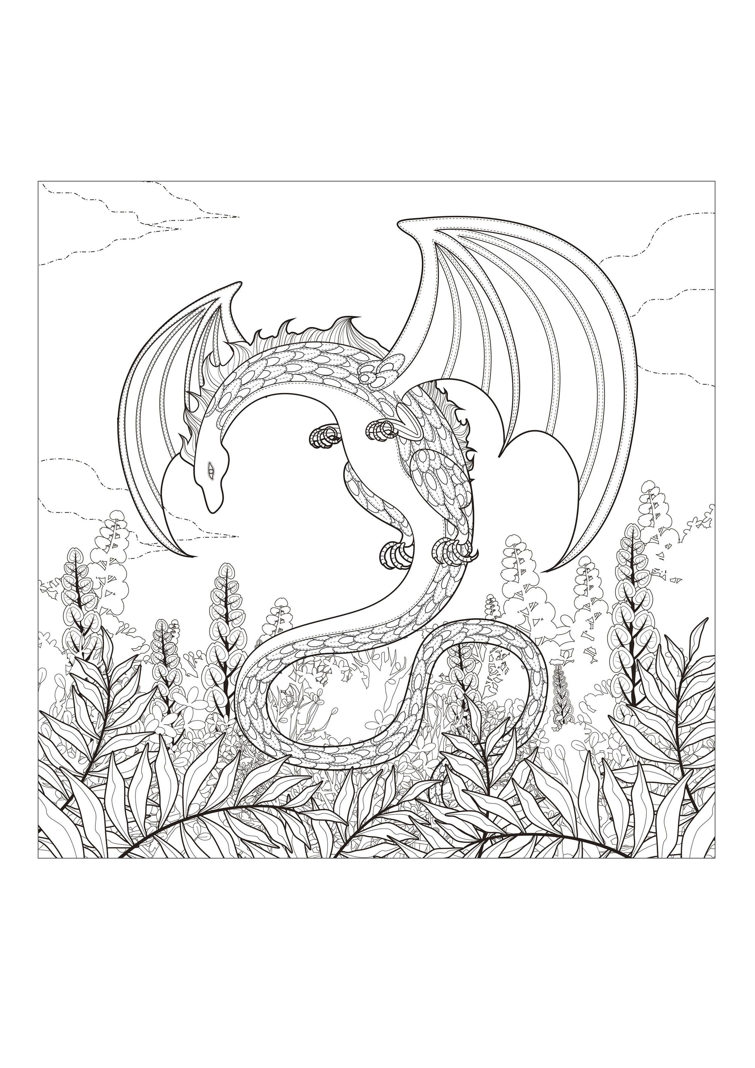 Do You Trust About Dragons From The Gallery Myths Dragon Coloring Page Monster Coloring Pages Coloring Pages
