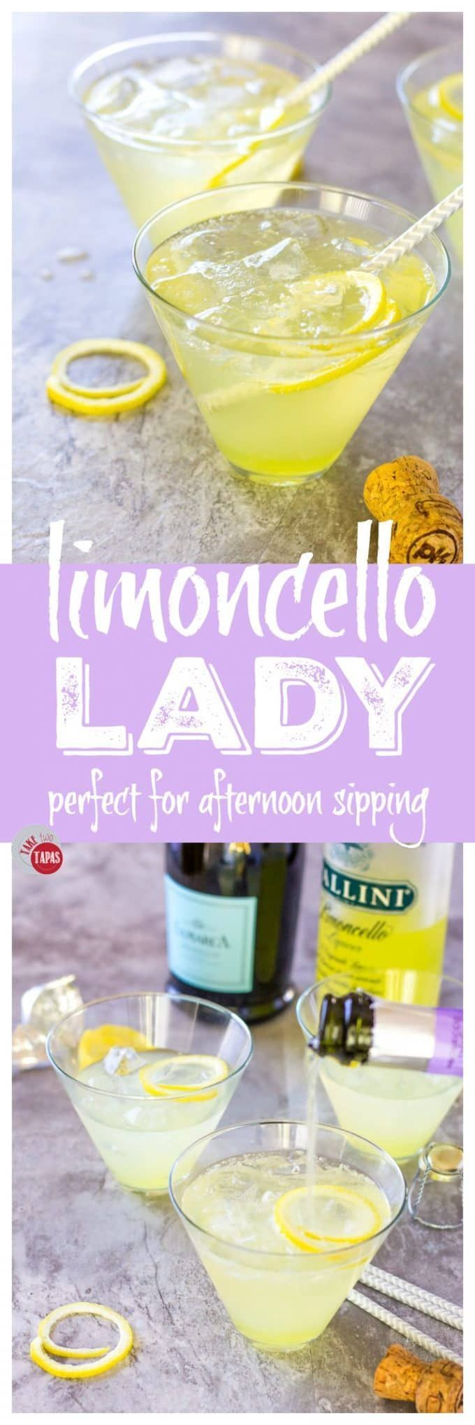 Limoncello Lady - Sparkling 3 Ingredient Prosecco Cocktail
