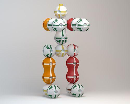 Bora Yildirim for Pinar Milk & Juice: a package concept turning into a modular toy - Il progetto di Bora Yildirim per Pinar: confezioni di latte e succhi che diventano un gioco modulare - #package #modular #design #innovation #food #milk #juice #children #toys