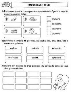 Atividades Ortografia X E Ch Palavras Com Ch Atividade De