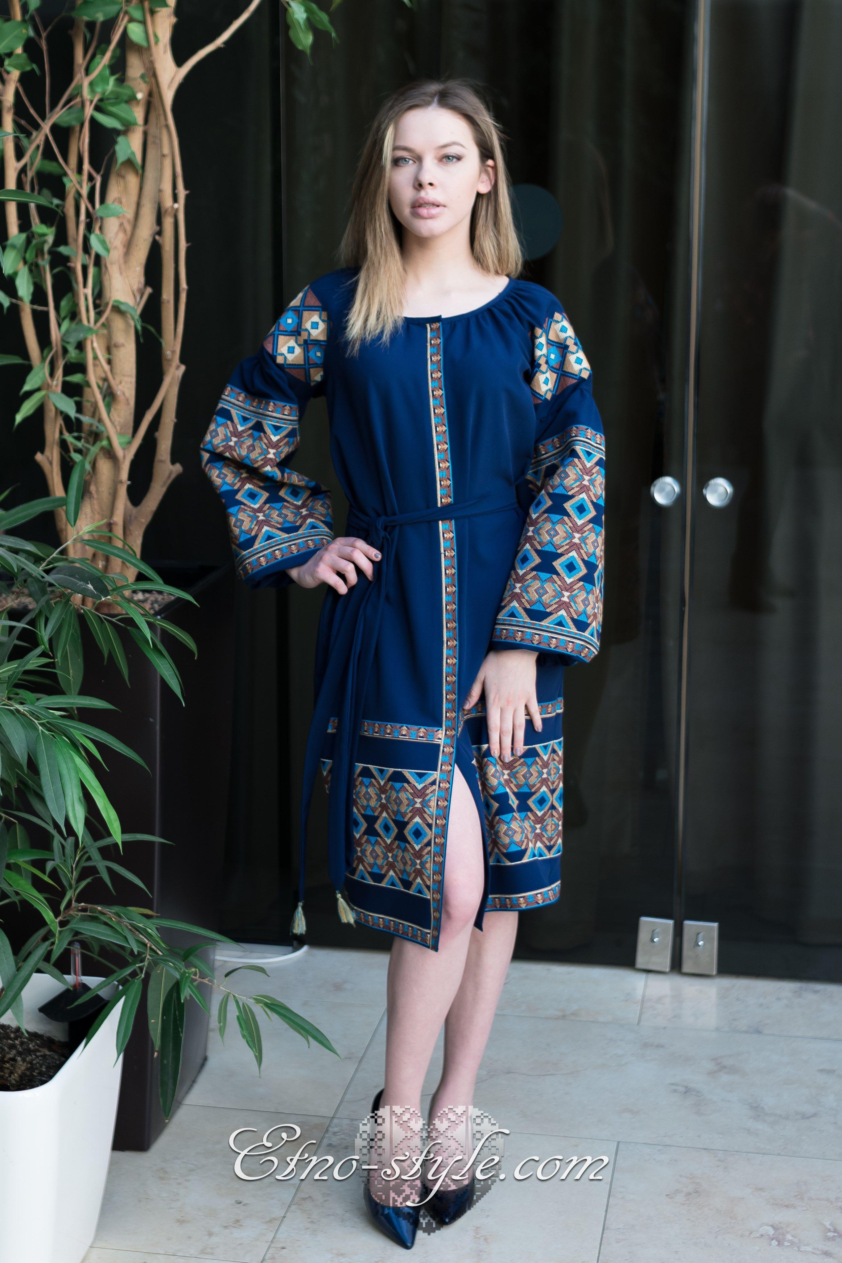 Жіноче вишите плаття Гармонія etno-style  59fd5622590f5