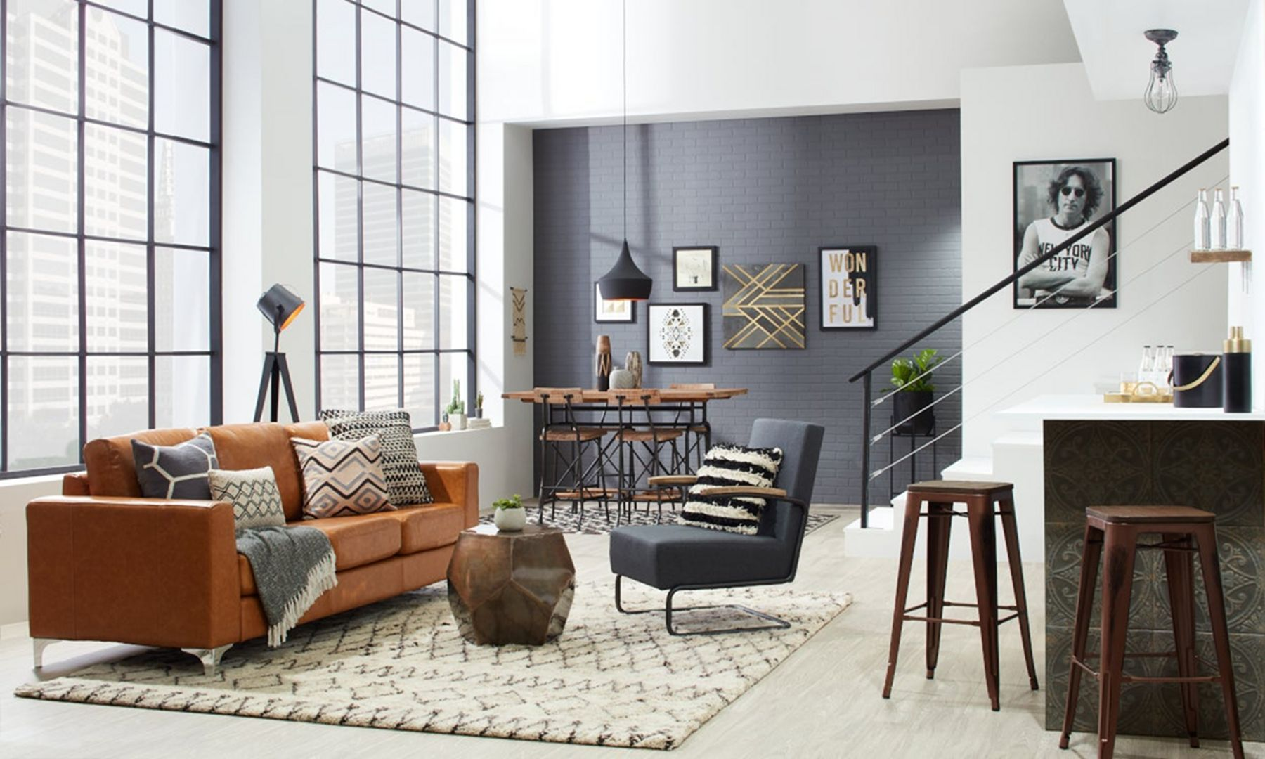 10 Amazing Industrial Style Living Room Decoration Ideas To Welcome Your Guest Industrial Style Living Room Modern Industrial Living Room Loft Furniture Design