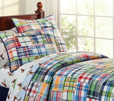 Madras Quilt For The Home Quilt Bedding Pottery Barn