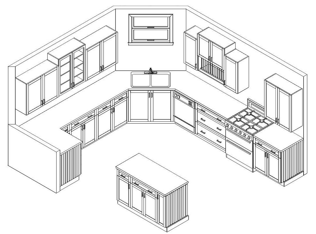 Image Result For Axonometric Kitchen