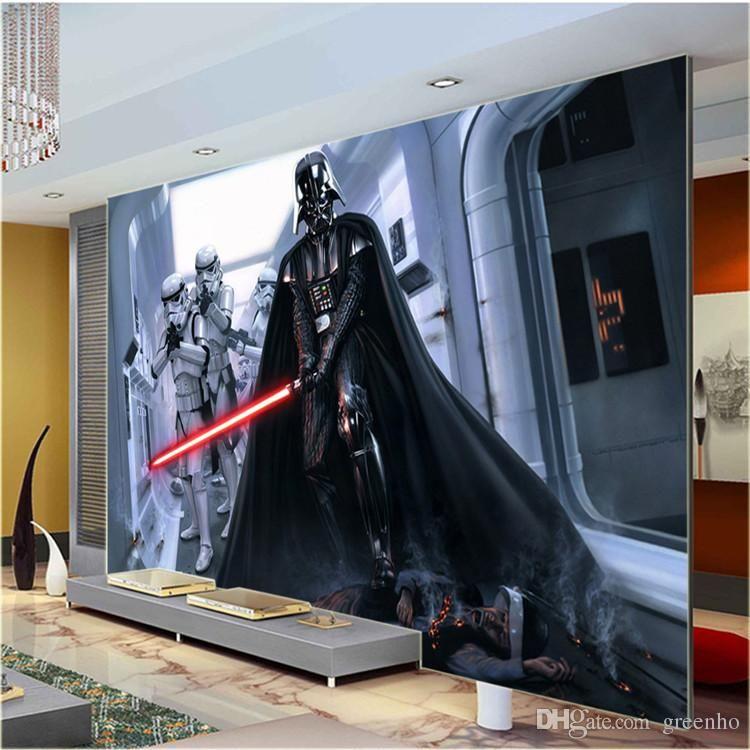 Modern darth vader wall mural star wars photo wallpaper large wall art designer cartoon movie custom