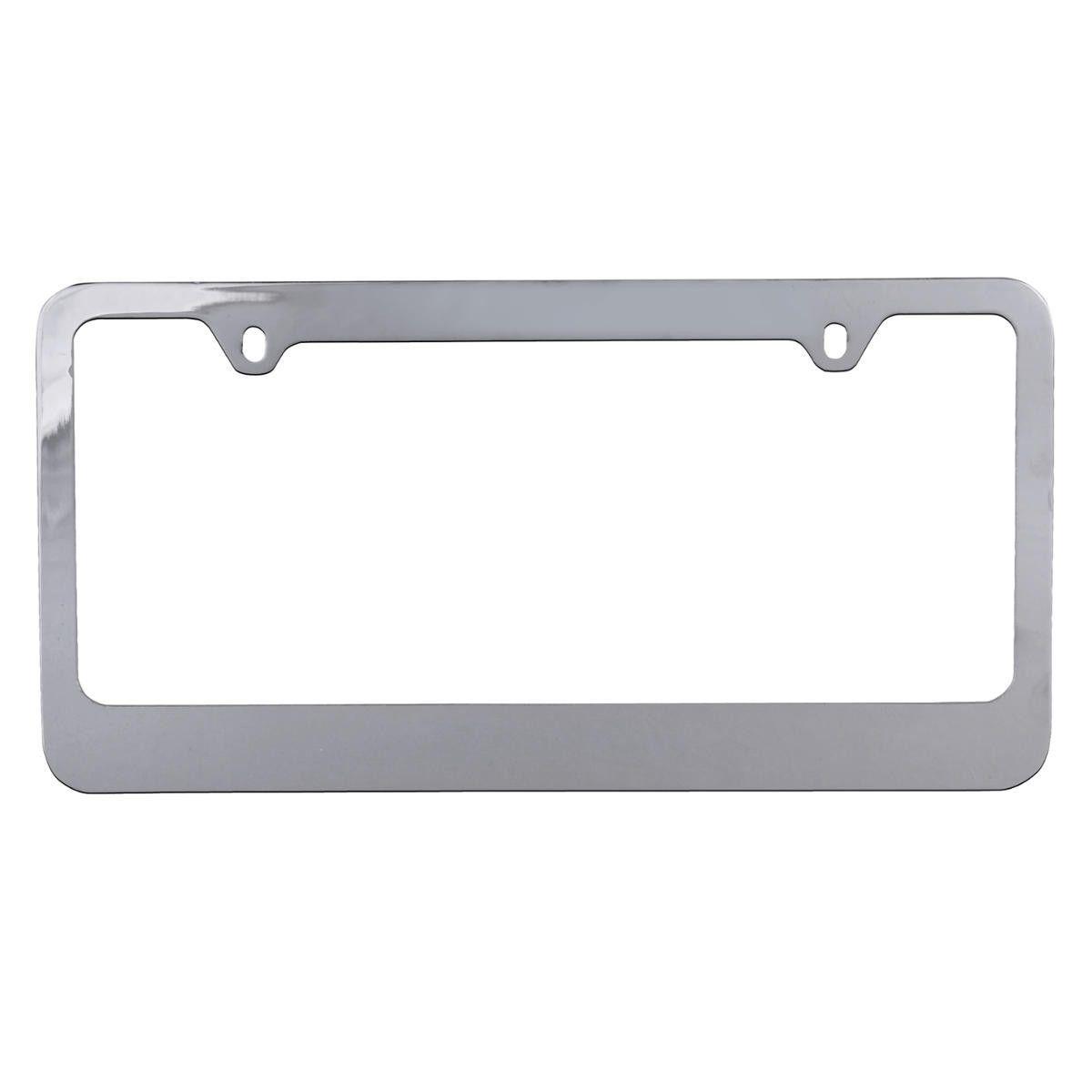 bdk usa blank chrome metal license plate frame 1 piece