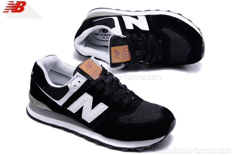 New Balance 574 Femme Noir Et Blanc