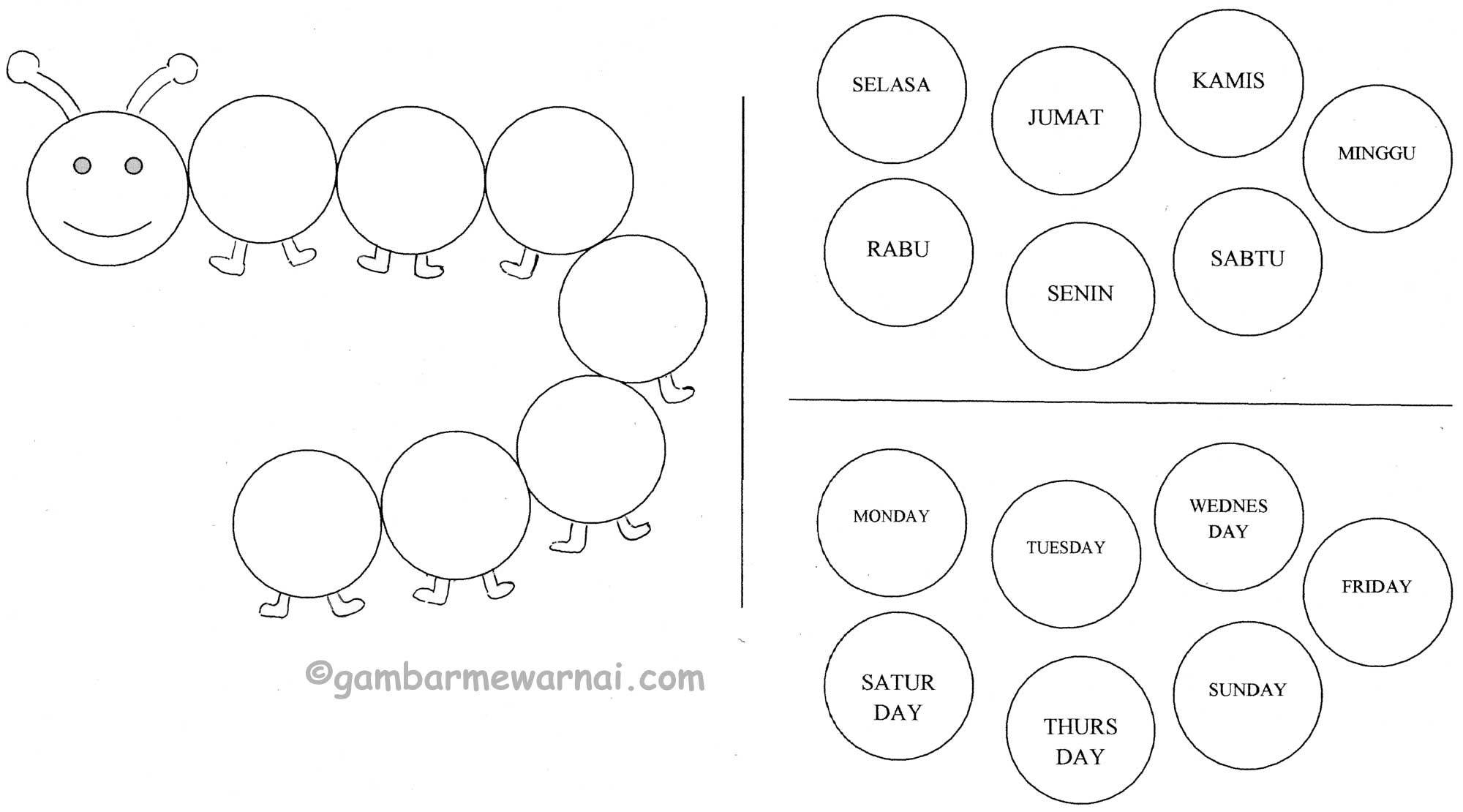 Belajar NamaNama Hari (Dengan gambar) Belajar