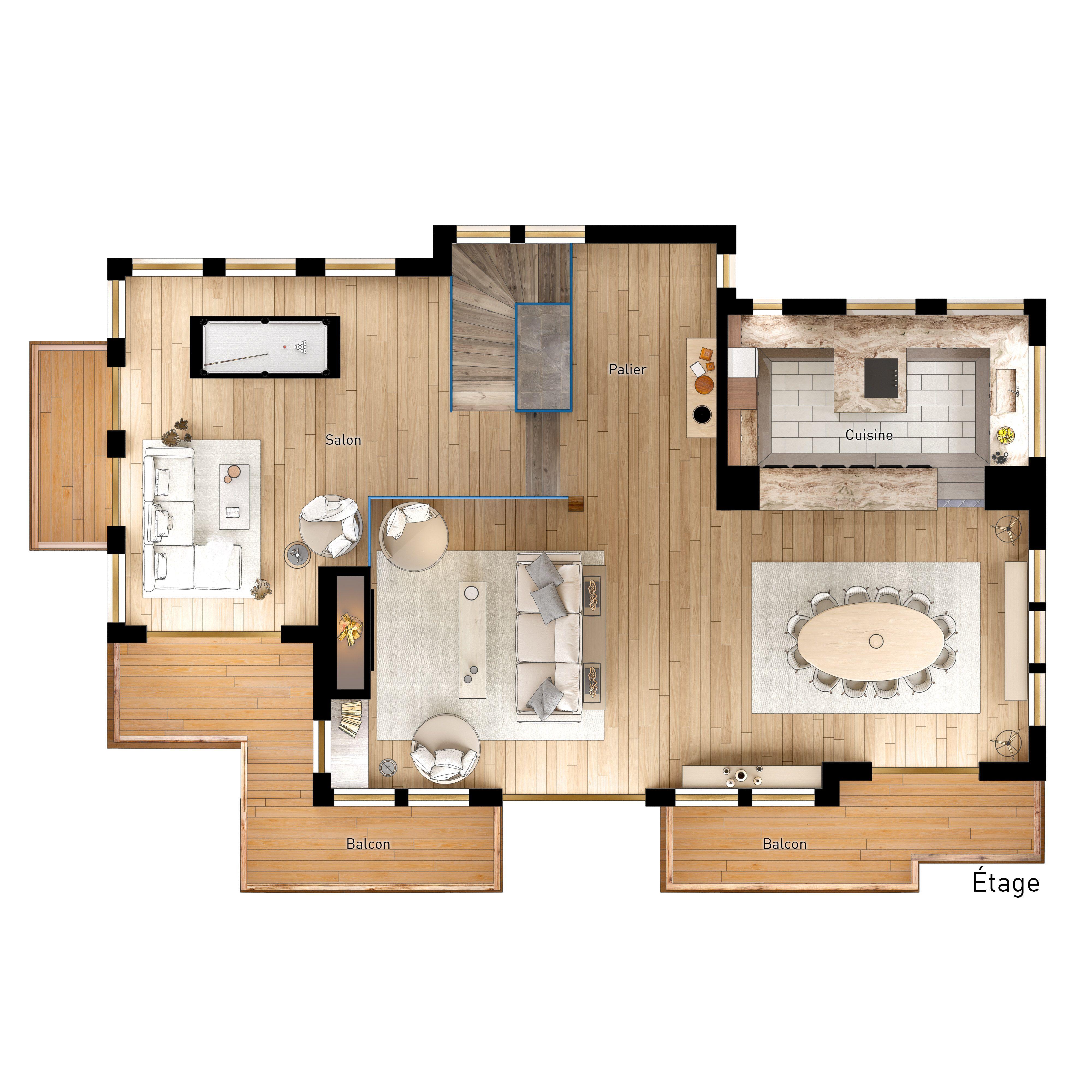 plan chalet projet immobilier megeve construction de luxe chalet sur piste luxury chalet in