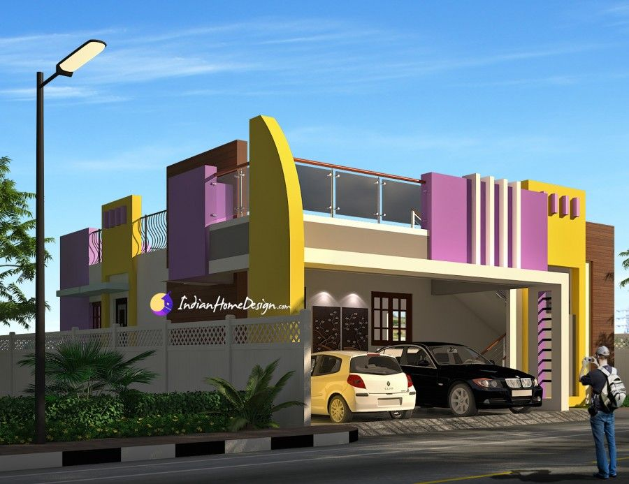 contemporary flat roof 2 bhk south indian home design by ns