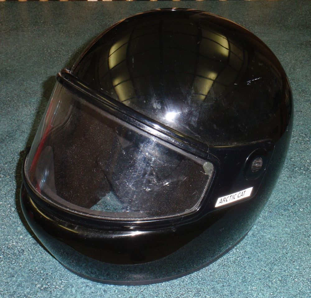 Arctic Cat Snowmobile Helmet Full Face With Shield Size