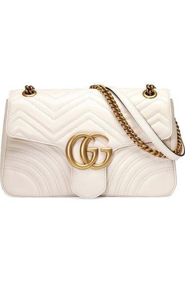 c7cfa575586f GUCCI Medium Gg Marmont 2.0 Tricolor Matelassé Leather Shoulder Bag.  gucci   bags