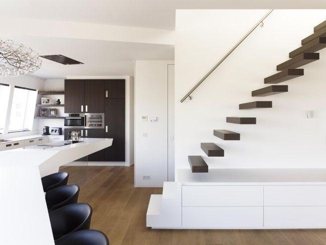 treppen dunkelholz modernes penthouse design himacscf Moderne - exklusives treppen design