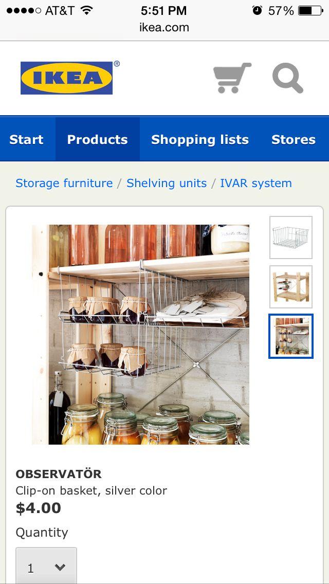 Ikea Under Shelf Basket 4 00