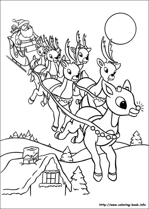 Rudolph The Red Nosed Reindeer Coloring Picture Christmas Coloring Sheets Printable Christmas Coloring Pages Rudolph Coloring Pages