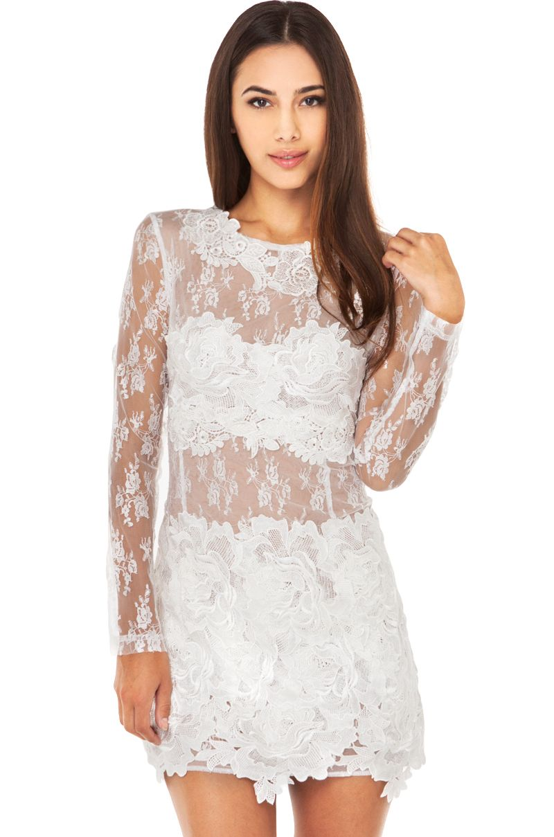 White Hot in this All Lace Mini Dress! Slip into the AKIRA Black ...