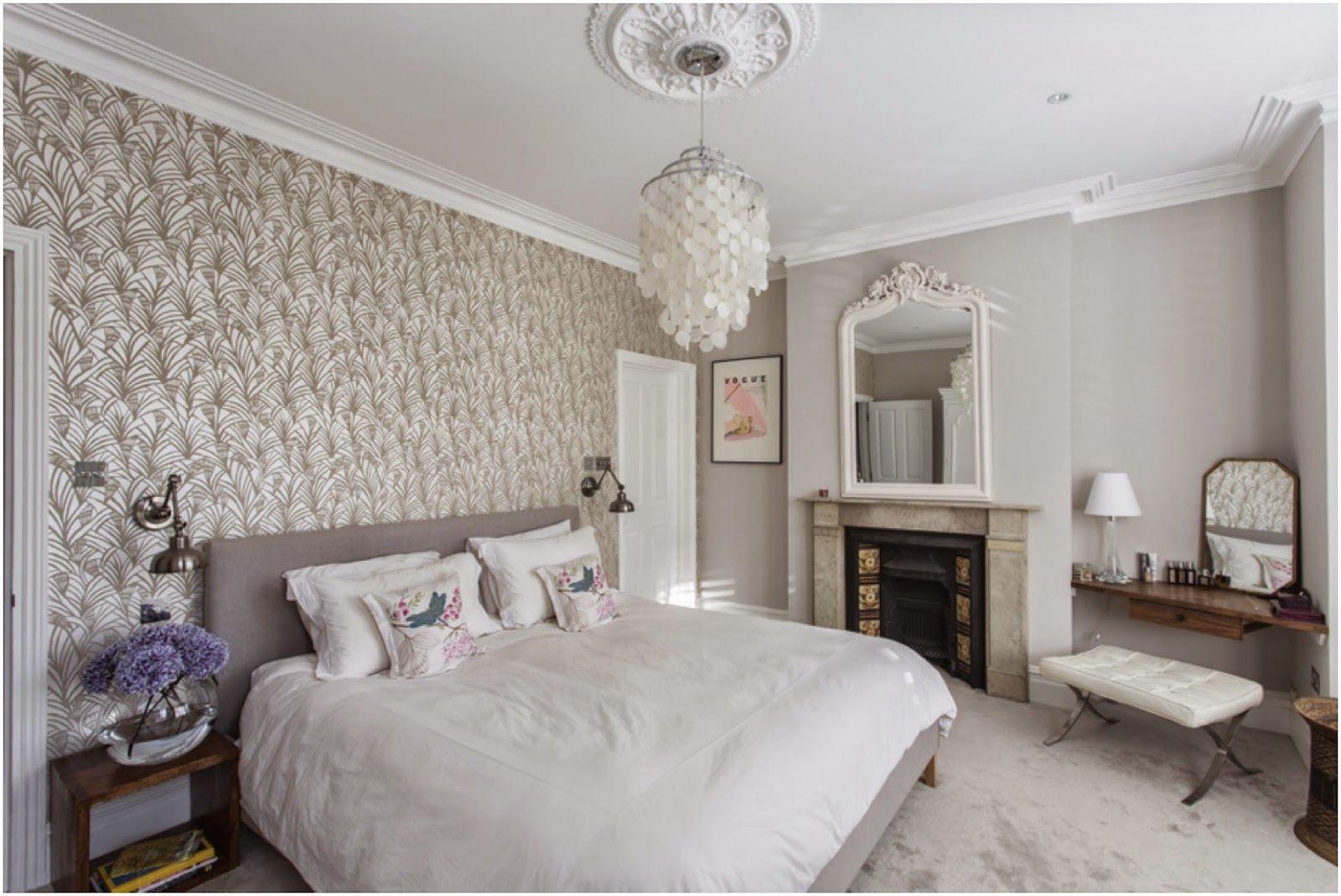 Master Bedroom Wallpaper Bedroom Complete Farrow Ball Cornforth White Walls Tapet Cafe