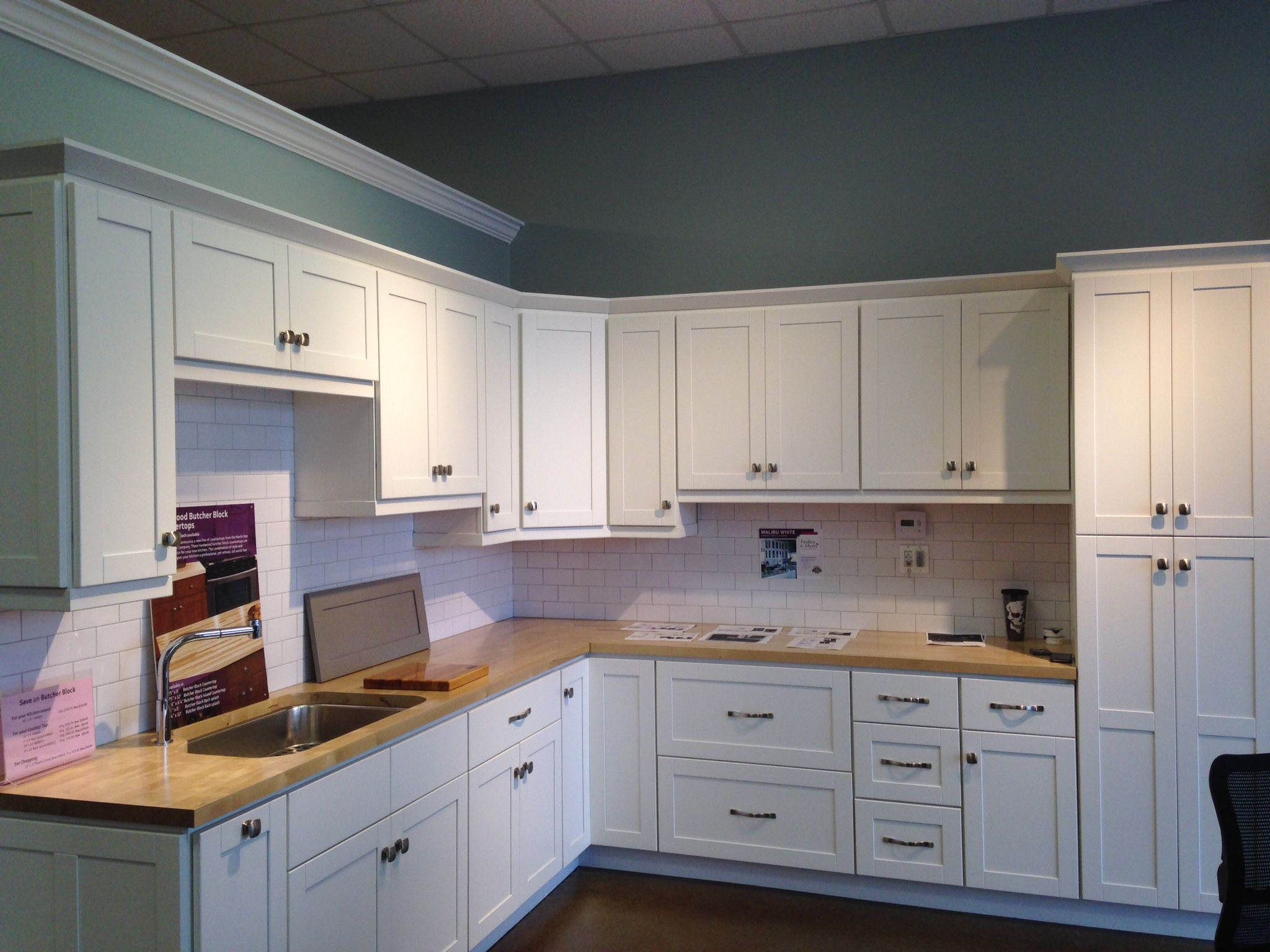 Malibu White cabinets from Cabinets To Go