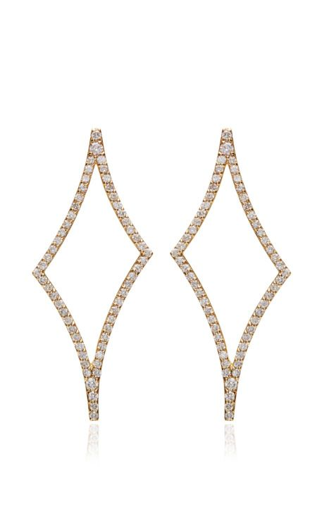 Celia Asymmetrical Shaped Diamond Earring With White Diamonds by Paige Novick for Preorder on Moda Operandi
