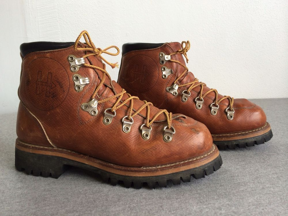 Vintage 70 S Herman Shoes Boots Leather Hiking