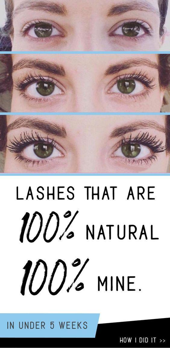 how to get long full lush eyelashes fast | Long lashes ...