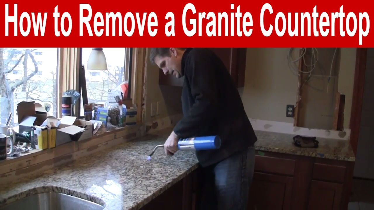 How To Remove A Granite Countertop Youtube Countertops