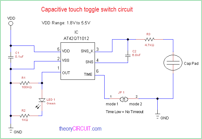 Capacitive Touch Toggle Switch Circuit Toggle Switch Circuit Toggle