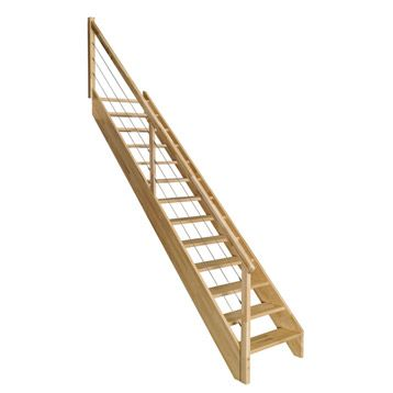 Escalier Droit En Bois Soft Câble Leroy Merlin Chalet