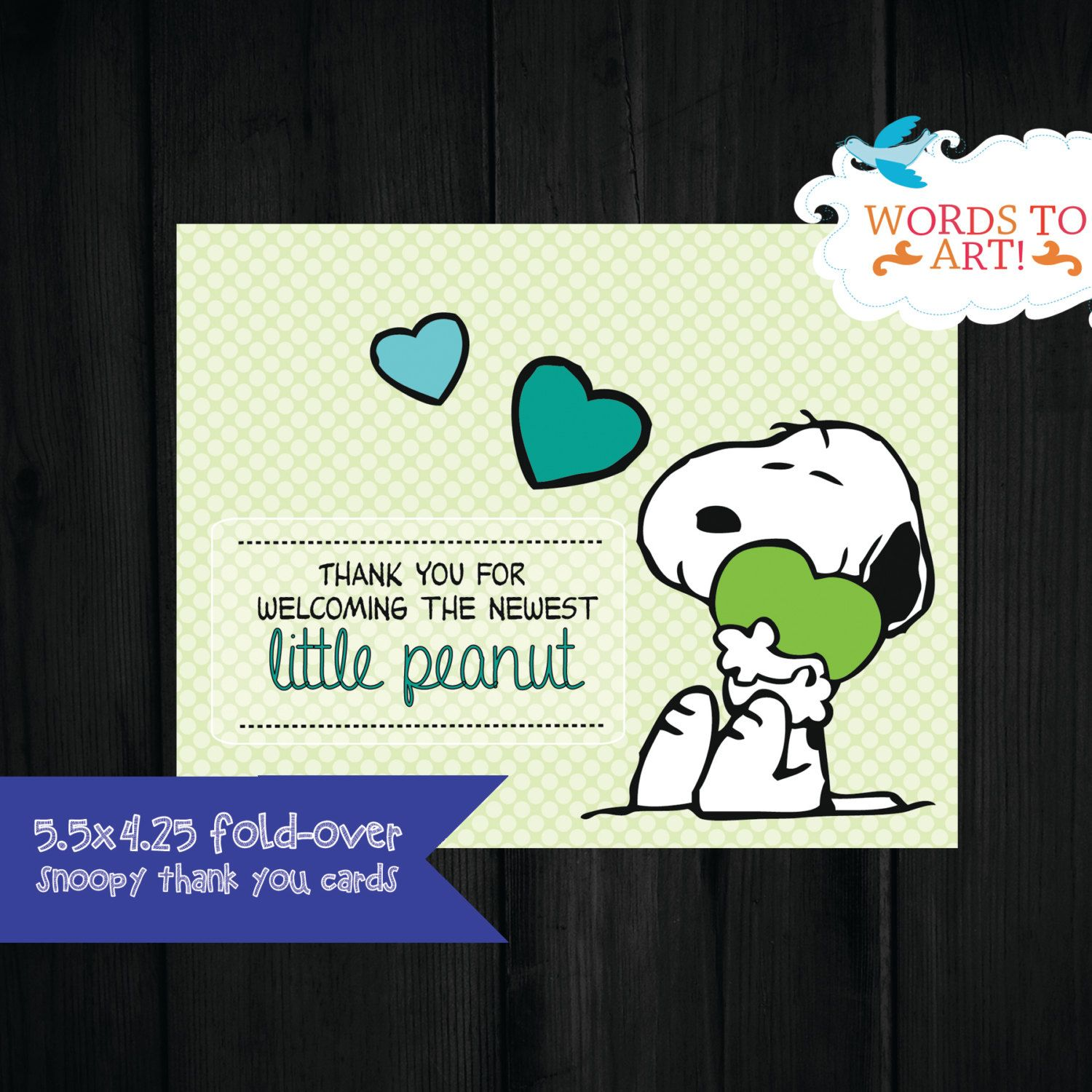 CUSTOM Snoopy Matching Thank you Cards - Baby Shower Invitations ...