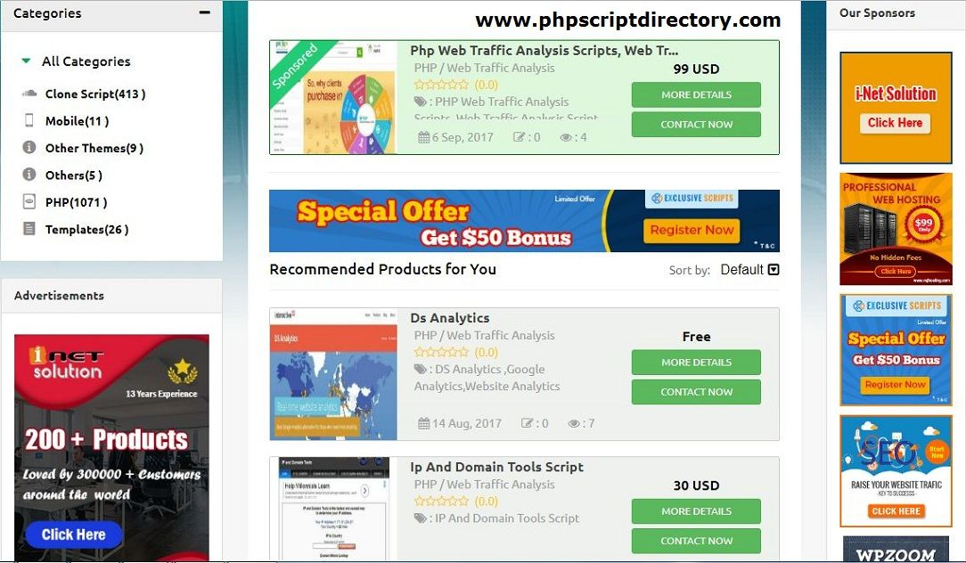 PHP Web Traffic Analysis scripts for turnkey web site