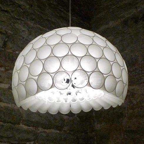 Wiithaa suspension en gobelets diy pinterest craft - Lustre en gobelet plastique ...