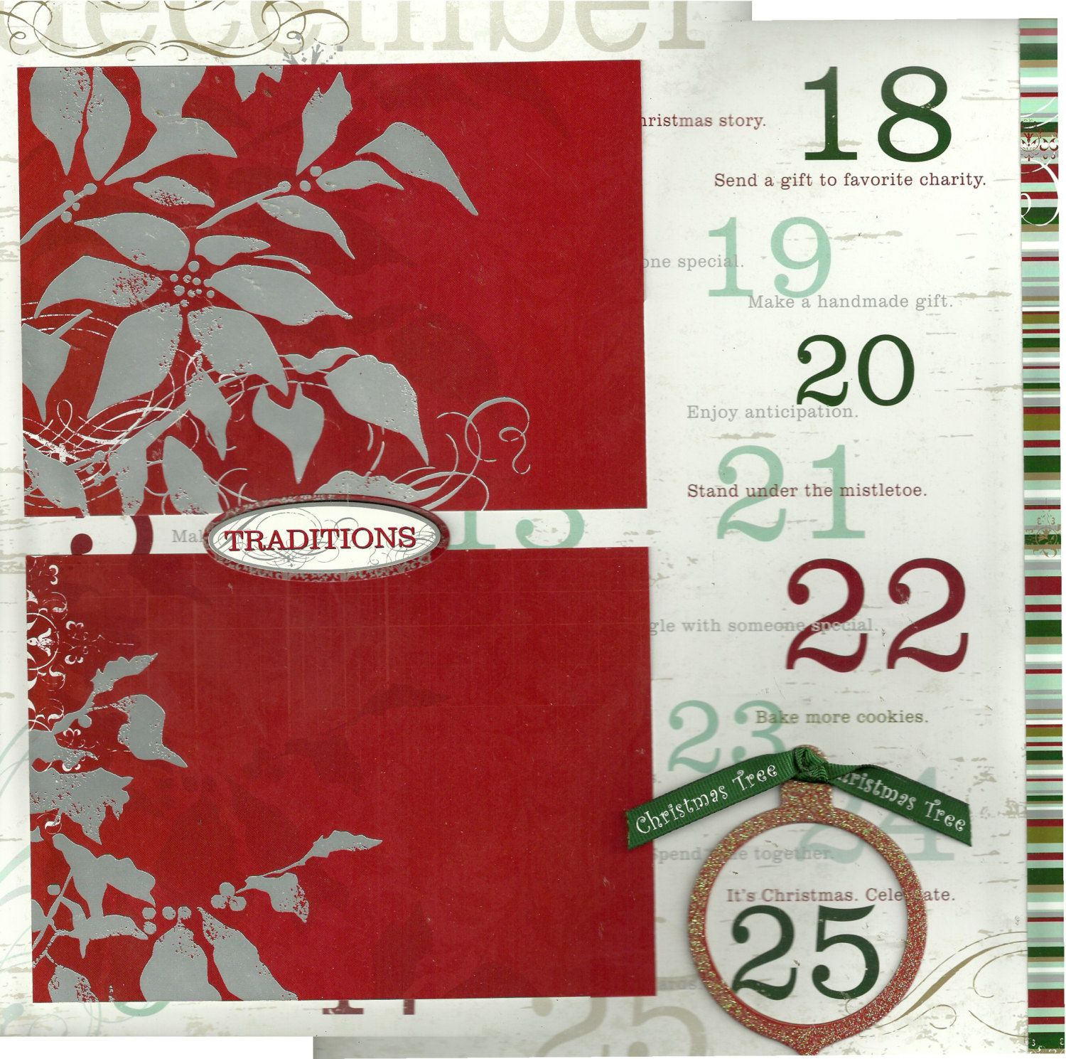 2 page Scrapbooking Layout Kit - Christmas Traditions by CropALatteToGo on Etsy