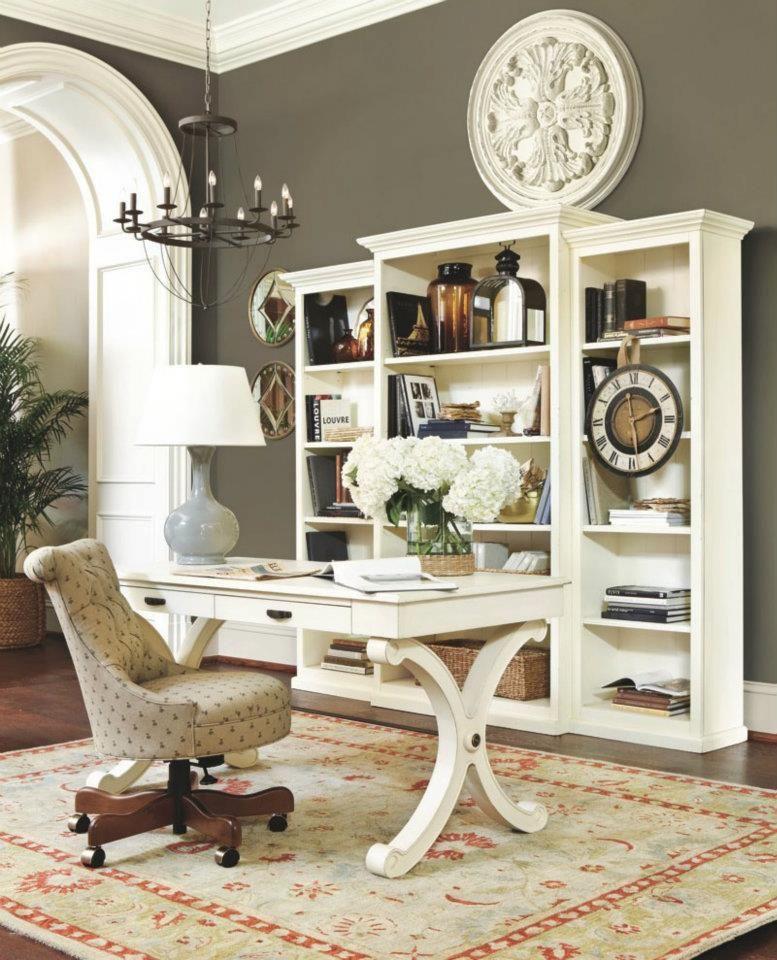 17 Gray Home Office Furniture Designs Ideas Plans: Benjamin Moore #1553 Equestrian Gray