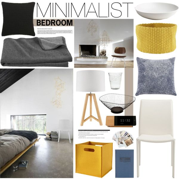 Minimalist bedroom by emmy on polyvore apartment for Minimalist bedroom pinterest