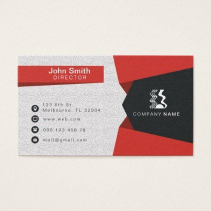 Red corporate business card colourmoves