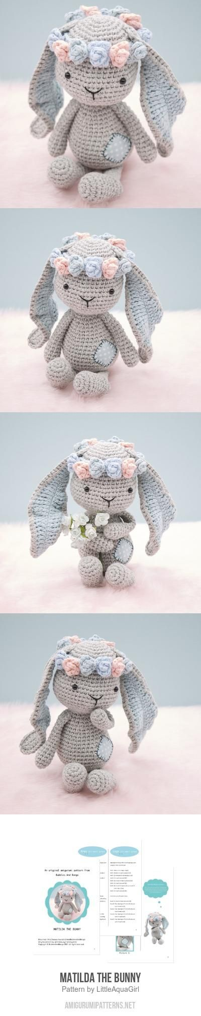 Matilda the Bunny amigurumi pattern by LittleAquaGirl | Conejo ...