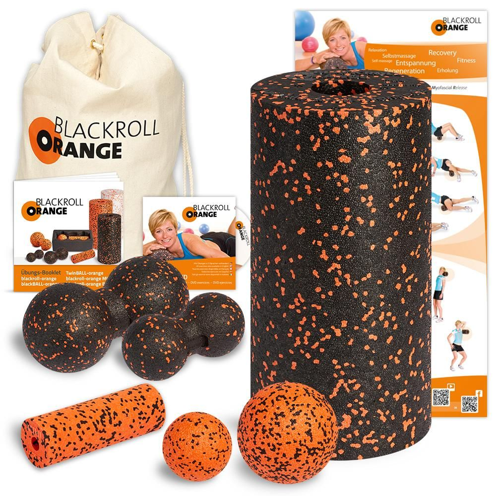Blackroll Orange Das Original Die Selbstmassagerolle Komplett