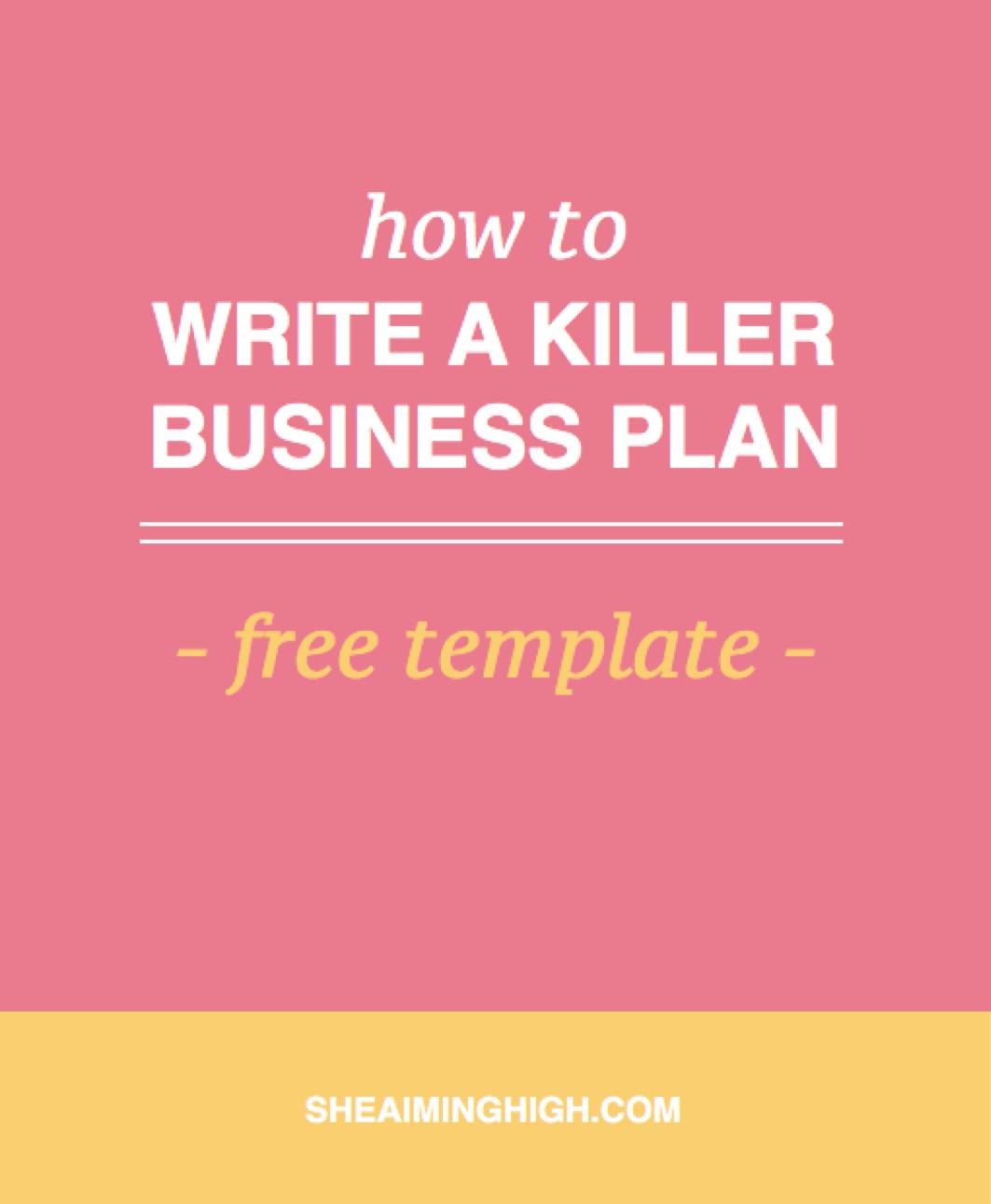 Help writing up a business plan