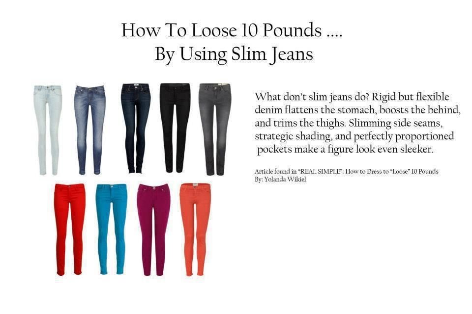 How to lose 10 lbs... By wearing slim jeans.