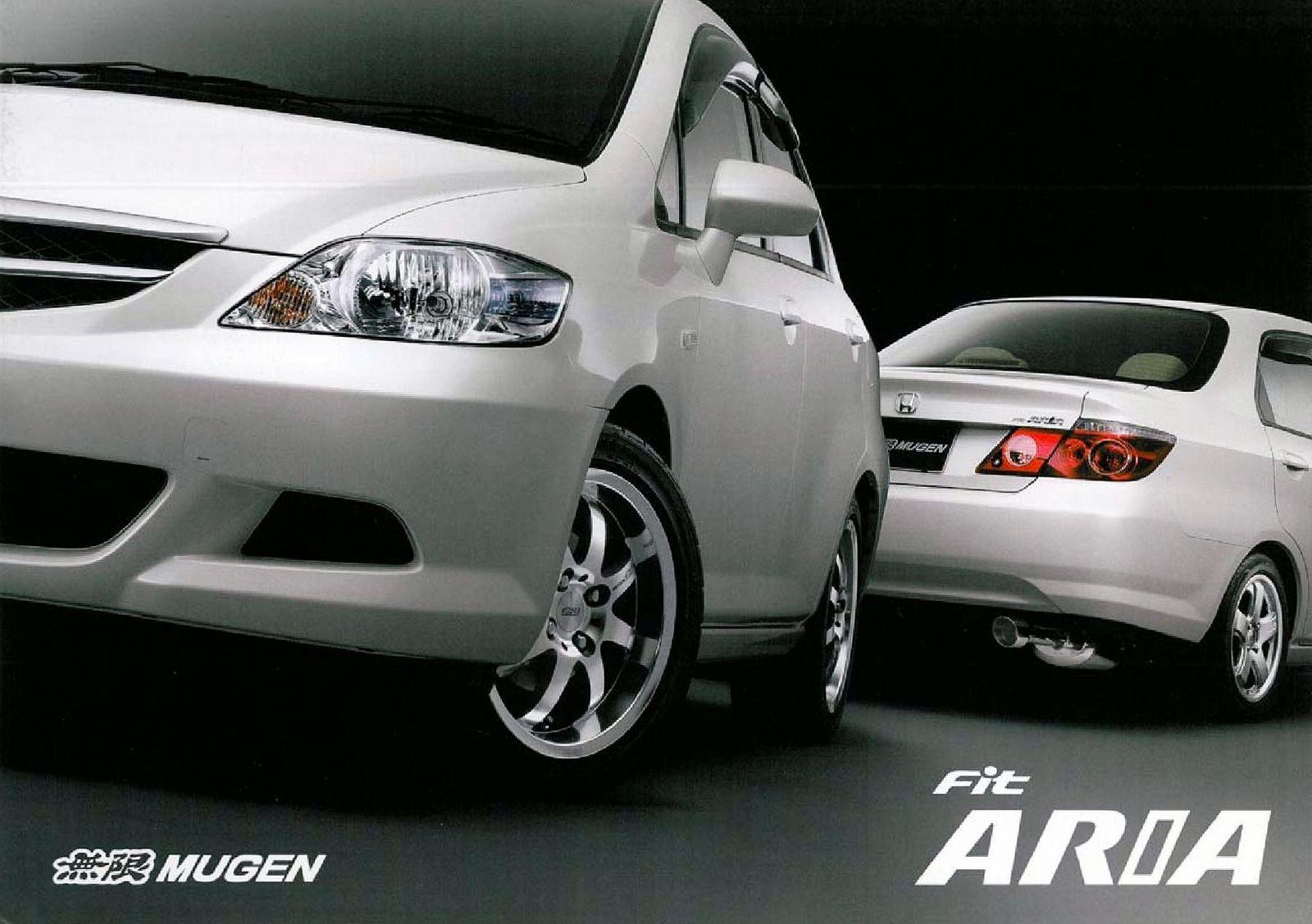 Honda Mugen Fit Aria Japan Brochure 2005 Honda City Honda City