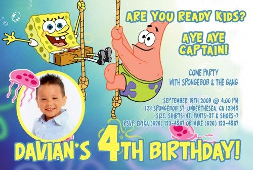 2 beautiful spongebob 2 years old birthday party invitations migo 2 beautiful spongebob 2 years old birthday party invitations filmwisefo