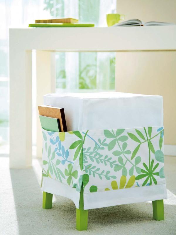 Azul y verde ¡De 10! | Banquetas, Banco silla y Telas estampadas