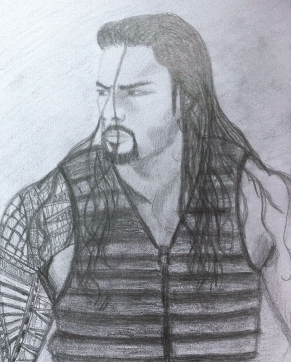 My drawing of the gorgeous Roman, not perfect but my best attempt ...