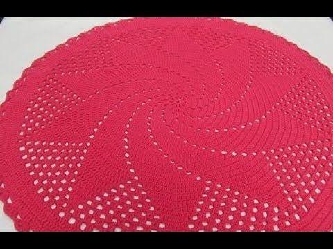 Tappeto Ovale Alluncinetto : Uncinetto tappeto centrino centro tavola tutorial youtube