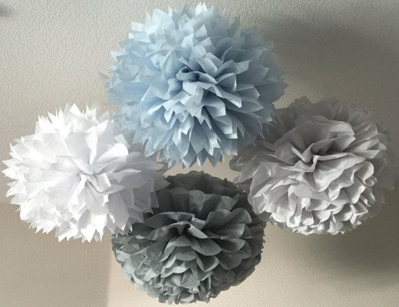 10 Tissue Pom Poms  Your Color Choice SALE by SweetandSavvyDesigns