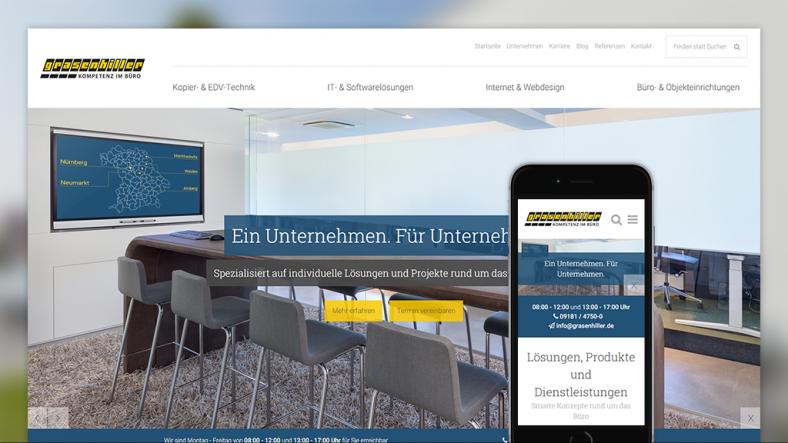 Webseite, responsive, Startseite, Home