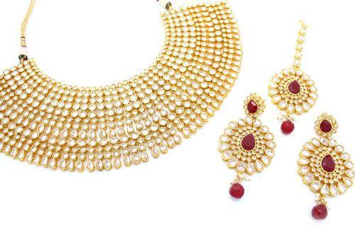 9140b62c5 Heavy Indian Bridal Jewellery Set Necklace Tikka & Earring Set ...