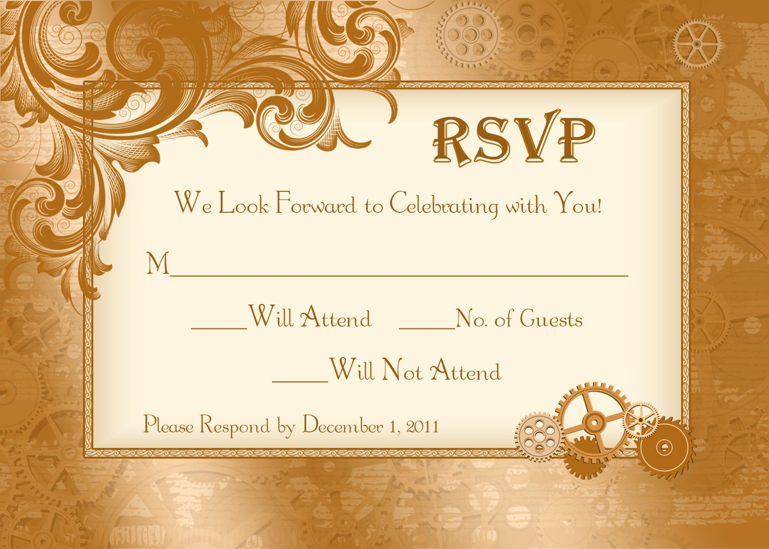 RSVP cards designed by my super talented aunt.