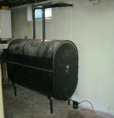 Replacement Of An Oil Tank Oil Furnace Fuel Oil Heating Oil