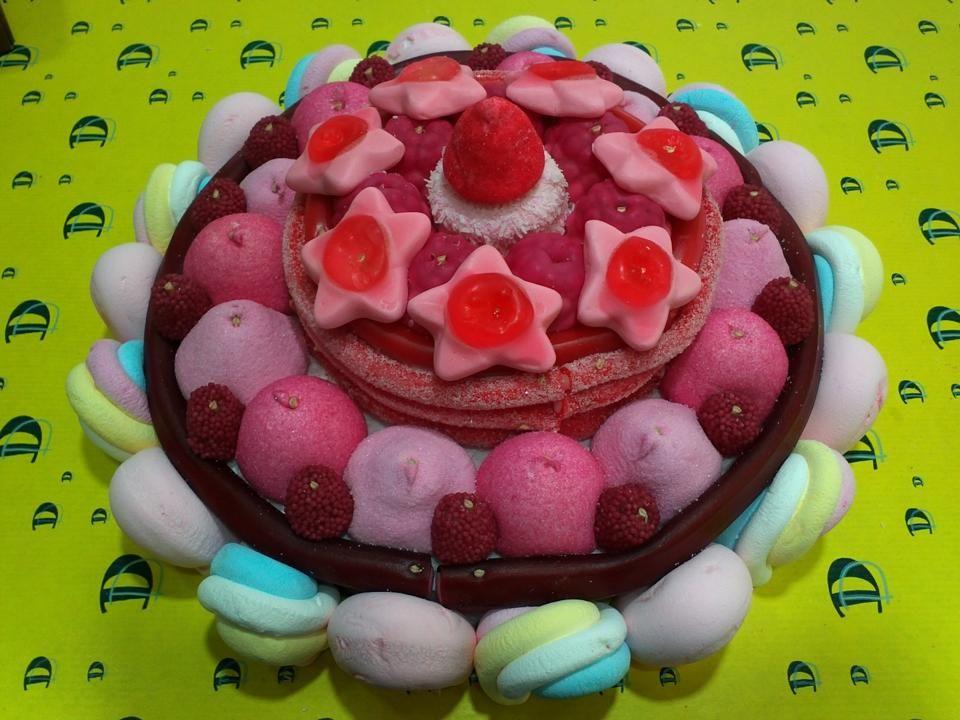 Tarta de golosinas muy especial hecha por Duldi Ciutadella.